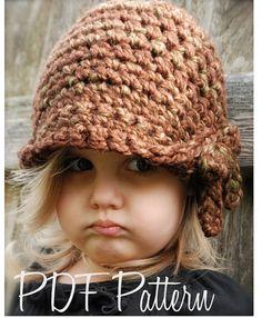 Crochet PATTERNThe Mylie Cloche' Toddler Child by Thevelvetacorn