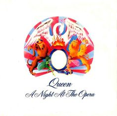 A Night at the Opera by Queen has one of the most known songs ever, Bohemian Rhapsody. Freddie Mercury is one of the most known singers and song writers in the decade of the due to his genius creations, like Bohemian Rhapsody. Queen Album Covers, Rock Album Covers, Classic Album Covers, Music Album Covers, Music Albums, Box Covers, Freddie Mercury, John Deacon, Discografia Queen