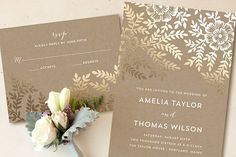 Foil-pressed Invitations from Minted + a Giveaway