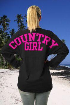 Juniors Country Girls� Varsity LS Spirit Tee