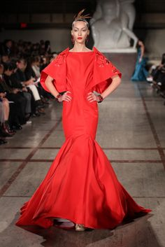 Fall 2012 Trend: Red All Over  (Zac Posen RTW Fall 2012)