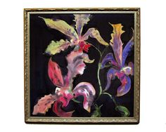 ORCHID PAINTING on SILK - Original signed dye on silk fine art