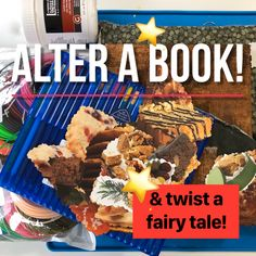 Anybody, any age can alter a book and twist a tale! Twisting a fairy tale is a fun spin on creative writing, so take your fave tale, change it and give it a try. Then grab an old book, rip out pages, and add your own story and art to make them both something new! And don't forget to share it with others! Kids Lighting, Old Books, Alters, Creative Writing, Spin, Fairy Tales, Forget, Age, Antique Books