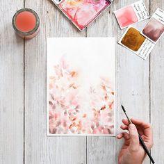 Pink Watercolor, Watercolor, Illustration, Drawings, Sarah, Painting, Art, Abstract, Color