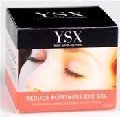 YSX Reduce Puffiness Eye Gel 15ml by YSX. $32.94. YSX Reduce Puffiness Eye Gel. YSX Reduce Puffiness Eye Gel 15ml. All Products are dispatched from England. Delivery times to the USA varies between 4 -15 days from the day of dispatch.