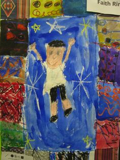 """""""Students in grades K-1, working in the style of artist, illustrator, children's book author Faith Ringgold, learn how art in the format of a quilt can tell a story and color and line can be emotive qualities."""""""