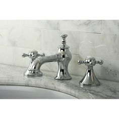 Found it at Wayfair - English Country Double Handle Widespread Bathroom Faucet with Pop-Up Drain