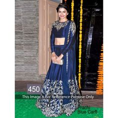 Prachi Blue Bollywood Replica Lehenga by Vendorvilla