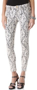 7 For All Mankind Lace Skinny Pants on shopstyle.com