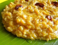 Chakkarai Pongal or Sakkarai pongal recipe with step by step photos. This sweet pongal is made for the harvest festival of Pongal Indian Food Recipes, Vegetarian Recipes, Ethnic Recipes, Indian Desserts, Indian Sweets, Indian Snacks, Indian Dishes, Rice Recipes, Sweet Recipes