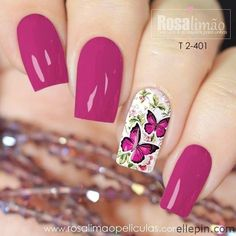 Nail art Christmas - the festive spirit on the nails. Over 70 creative ideas and tutorials - My Nails Acrylic Nail Designs, Nail Art Designs, Acrylic Nails, Elegant Nails, Stylish Nails, Great Nails, Pretty Nail Art, Flower Nails, Creative Nails