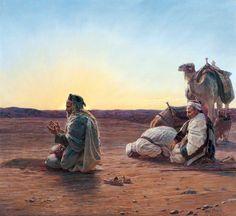 Otto Pilny (Swiss, 1866-1936). Prayer in the Desert of Egypt. Djillali Mehri Collection