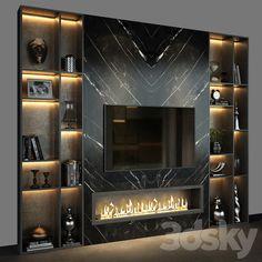 Modern Tv Room, Modern Tv Wall Units, Modern Living, Garderobe Design, Living Room Tv Unit Designs, Tv Wall Design, Home Fireplace, Home Room Design, Wall Tv