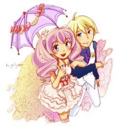 Harvest Moon - Luna and Gill by Sanoshi.deviantart.com on @deviantART
