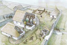 Llys Rhosyr | The Royal Court at Aberffraw  in the 13th Century