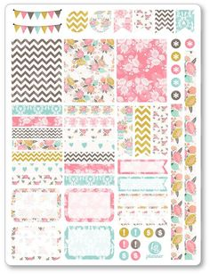 Shabby Chic Decorating Kit / Weekly Spread Planner Stickers for Erin Condren Planner, Filofax, Plum Paper by PlannerPenny on Etsy https://www.etsy.com/listing/267667392/shabby-chic-decorating-kit-weekly-spread