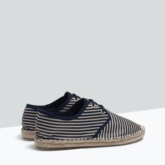 ZARA Swe - SHOES & BAGS - STRIPED LACE-UP ESPADRILLES