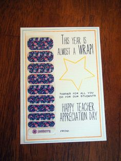 Teacher Appreciation ~ Sparkles & Crafts I have just what teachers are loving! Show them your appreciation! Go to my site jamswithkara.jamberrynails.com
