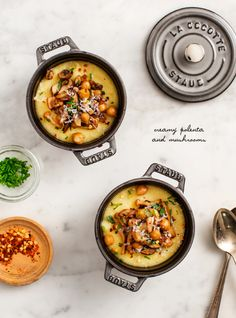 creamy polenta and mushrooms / @loveandlemons