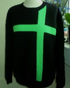 5c29b62c8fc0 Green Cross. Jumpers For WomenCentreBright GreenHand KnittingSweater ...