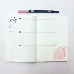 Im feeling very girly this week and Im having a grapefruit flavor kick right now Fran Caro Morales Bullet Journal 2019, Bullet Journal Layout, My Journal, Bullet Journal Inspiration, Journal Ideas, Bullet Journals, Girly, Bullet Journal Hand Lettering, Diy Agenda