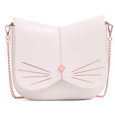 Women's Ted Baker London Cat Leather Crossbody Bag (820 RON) ❤ liked on Polyvore featuring bags, handbags, shoulder bags, light grey, leather crossbody, cat purse, shoulder handbags, leather crossbody purse and purse crossbody