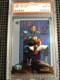 1998 Bowman Chrome Fred Taylor Rookie Card RC PSA Graded Mint 9 #11 Jaguars http://r.ebay.com/Ul1HQj @eBay