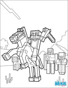 Minecraft Coloring Pages | Them Kids | Minecraft coloring pages ...