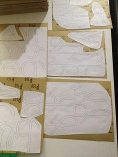 Tuto fabrication lettres rugueuses Montessori