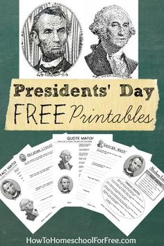 Download eight different FREE Presidents Day worksheets for the elementary grades!!