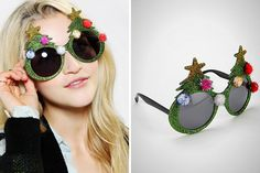 Christmas Tree Glasses—the perfect prop for your holiday photo booth.