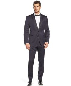 BOSS HUGO BOSS Navy Slim-Fit Tuxedo  | macys.com