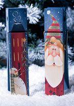 Santa/Winter Saltbox House Memo Clip