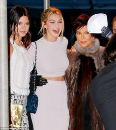 Kendall, Gigi Hadid + Kris