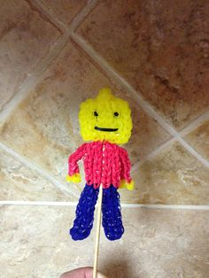 Rainbow Loom LEGO MAN. Designed and loomed by Cheryl Spinelli.