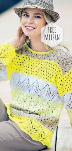 Knitted Summer Top Free Pattern Knitted Summer Top Free Pattern Record of Knitting Wool rotating, weaving and sewing careers such as BC. Free Knitting Patterns For Women, Sweater Knitting Patterns, Knitting For Beginners, Knitting Designs, Knitting Wool, Vintage Knitting, Top Pattern, Free Pattern, Jumpers For Women