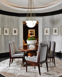 Mr. and Mrs. Howard Collection by Sherrill Furniture. Distinguished Dining.