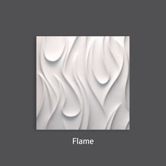 Pure Elegance. Flame 3D Wall Tile by #TexturalDesigns #SculpturalTile #3DTile…