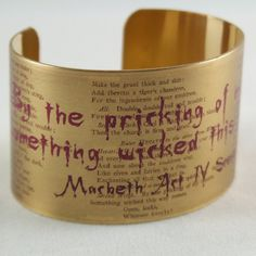 Shakespeare Quote Jewelry  Something Wicked This by JezebelCharms, $40.00