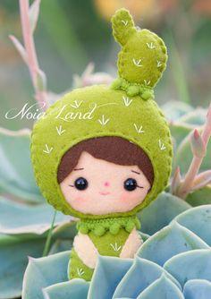 Patrón PDF. Chicas de cactus. por Noialand en Etsy
