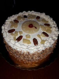 Pastel de piña con coco