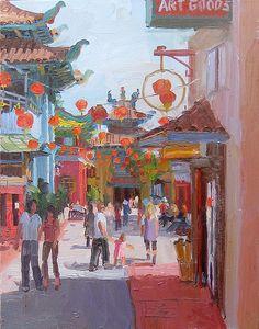 Alex Schaeffer, https://flic.kr/p/6hLpRT | chinatown, los angeles | oil on canvas, 30 by 24