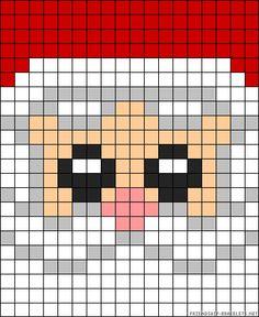 Christmas Santa perler bead pattern