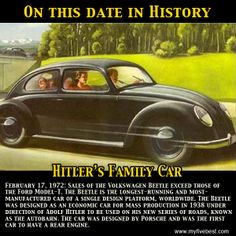 The Volkswagen Beetle outsells the Model T Ford on this date in 1972. http://www.myfivebest.com