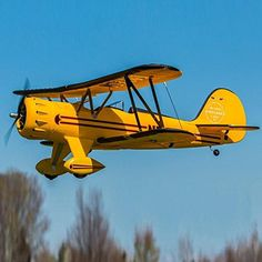 Dynam Waco Yellow 1270mm 50inch Wingspan RC Warbird PNP -- Awesome products selected by Anna Churchill