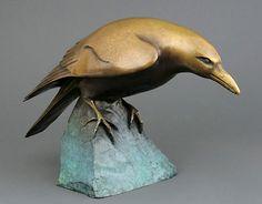 Georgia Berber - Bowed Raven x x Bronze Sculpture - Edition of 15 Crow Art, Raven Art, Bird Art, Bird Sculpture, Animal Sculptures, Bronze Sculpture, Pottery Animals, Jackdaw, Crows Ravens