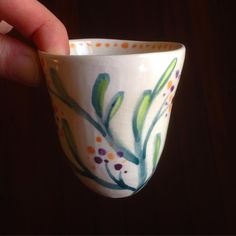 Painted cup by cobaltandkin.com