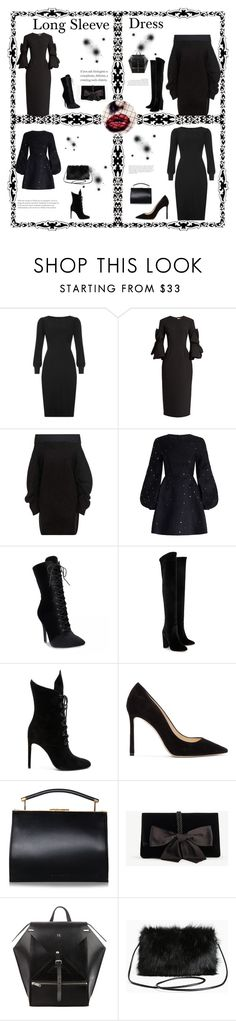 """Have fun with black"" by bitterfrench on Polyvore featuring Roksanda, Opening Ceremony, Zimmermann, Aquazzura, Kendall + Kylie, Jimmy Choo, Ann Taylor, Torrid, blackdress and warm"