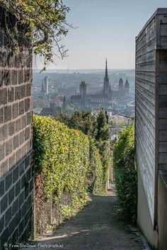 Rouen, Normandie, France. Passage de la rue Gibert vers la rue Dupont Delporte Dupont, Rouen, Sidewalk, Country Roads, Hui, Pinocchio, Monaco, Decoration, Normandie