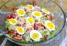 Diet Recipes, Healthy Recipes, Healthy Salads, Cobb Salad, Nom Nom, Food And Drink, Low Carb, Cooking, Breakfast